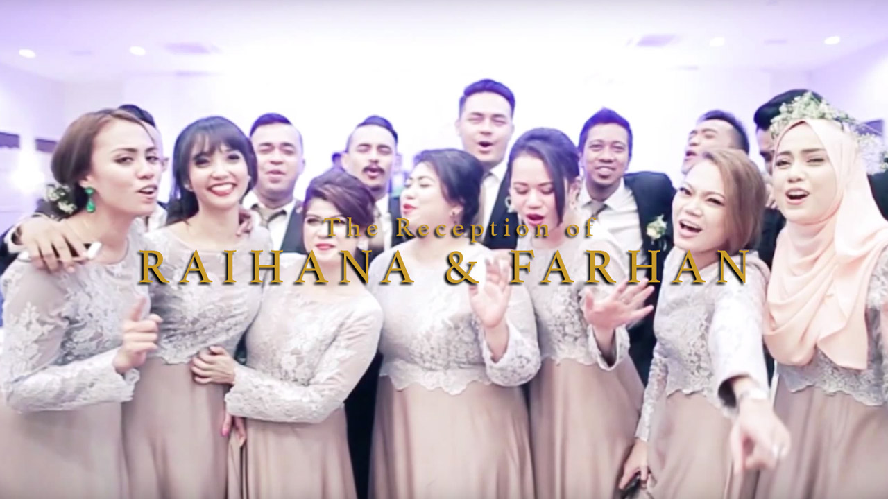 The Reception of Raihana + Farhan // By Top Wedding Videographer Malaysia (Kaio Studio)